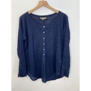 Banana Republic Long Sleeve Tee Shirt Blue Size M